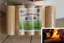 Holzbriketts - 10Kg-Pakete auf Palette 960 Kilo - Bild vergrößern
