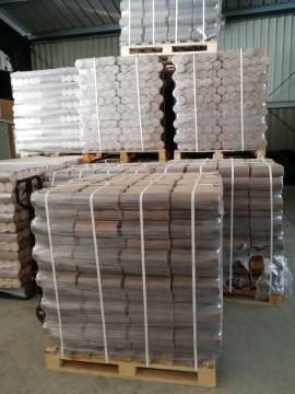 Holzbriketts - 10Kg-Pakete auf Palette 960 Kilo ab 299,99€